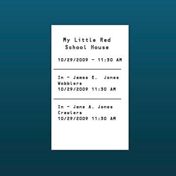 Ticket Printer Sample Receipt