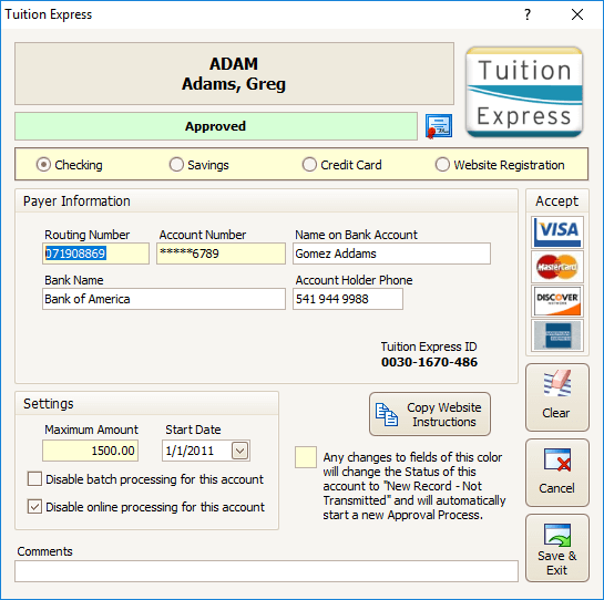 Tuition Express  Screenshot